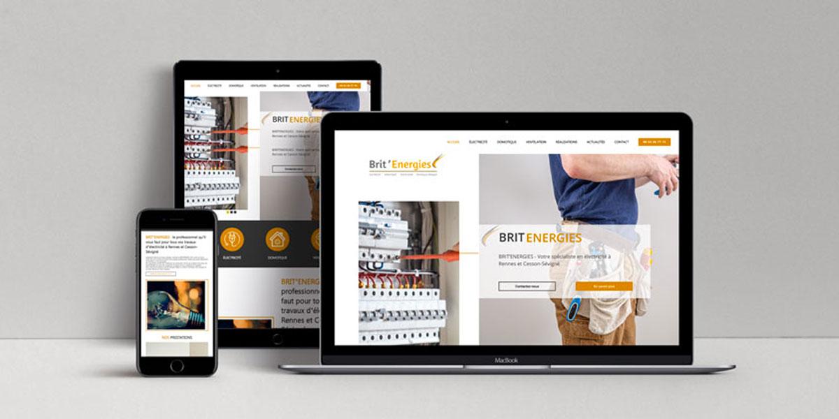 BRIT ENERGIES Electricien Rennes Website
